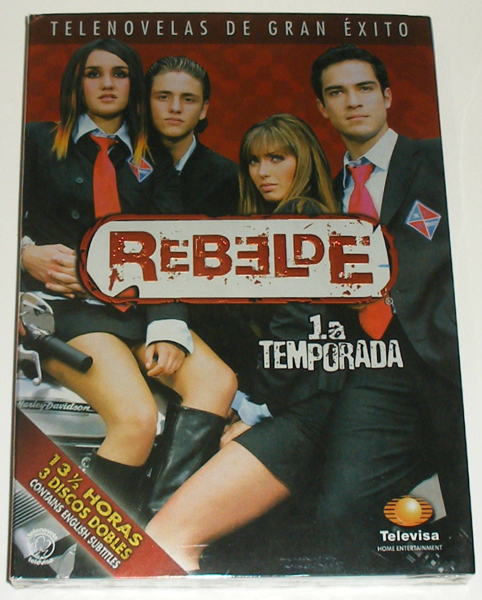 REBELDE 1a Temporada: First Season (3 DVD's) Primera Temporada SEASON 1 *NEW - Teacher In Spanish