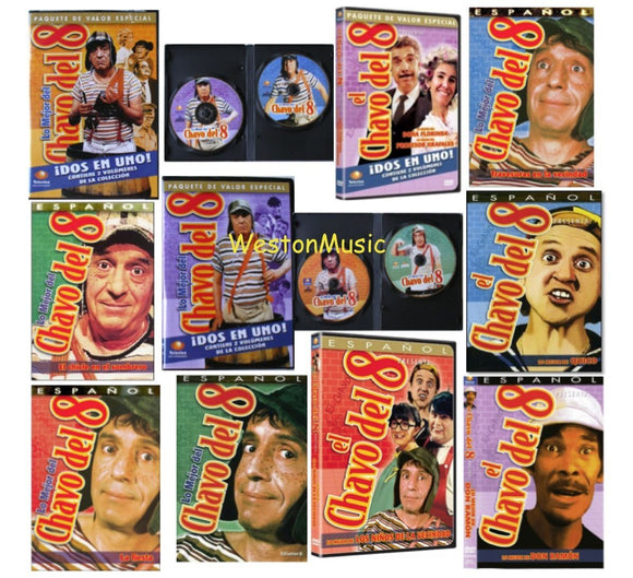 EL CHAVO DEL 8 - 13 Different DVDS * All New & Factory Sealed * Chavo del Ocho - Teacher In Spanish