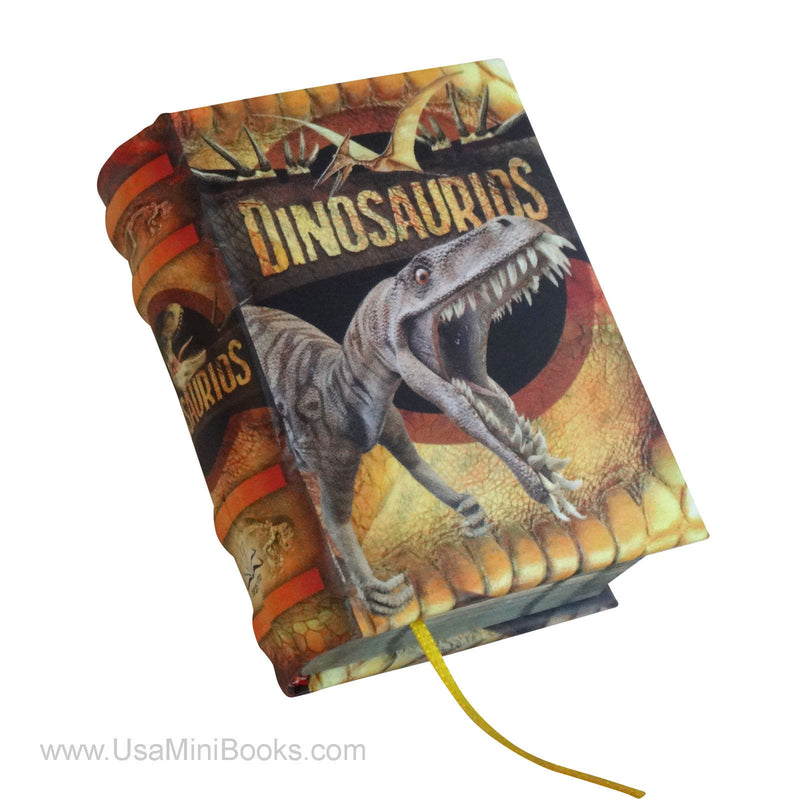 New Dinosaurios in spanish Legible Miniature Book hardcover with illustrations - Teacher In Spanish