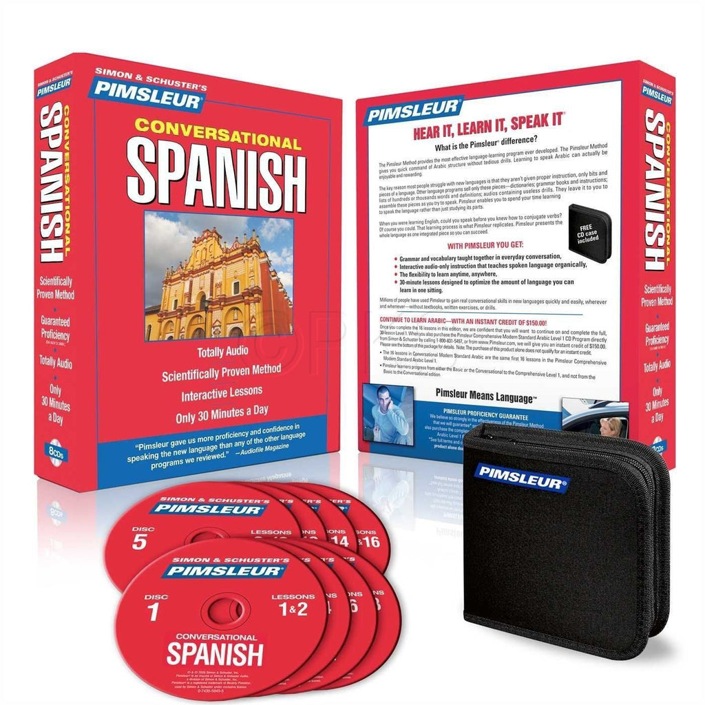 8 CD Pimsleur Learn Spanish Latin Language Conversational 16 lessons - Teacher In Spanish