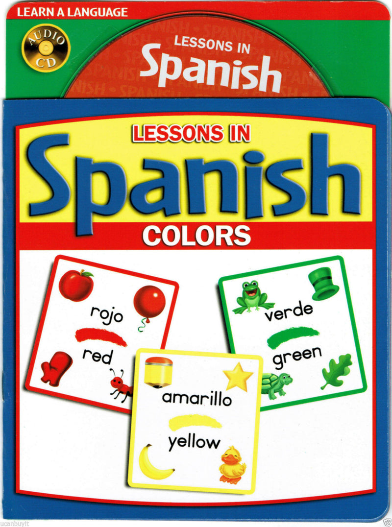 LESSONS IN SPANISH Educational Picture Book and Audio CD of COLORS Ages 5+ - Teacher In Spanish