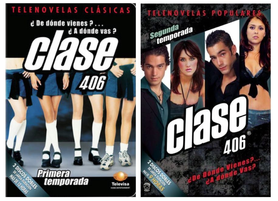 TELENOVELAS* CLASE 406 DVDS Season 1 & 2 * Primera & Segunda Temporada NEW - Teacher In Spanish