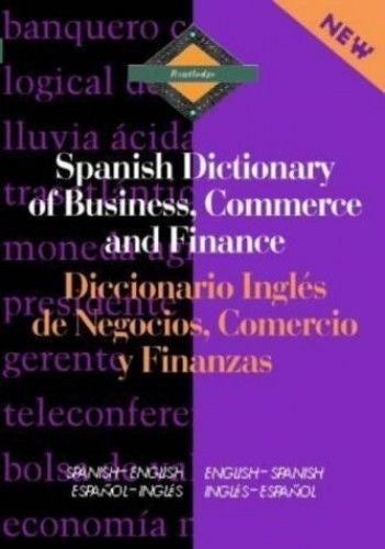Routledge Spanish Dictionary of Business, Co..., Davidson, Hilda Elli 0415093937