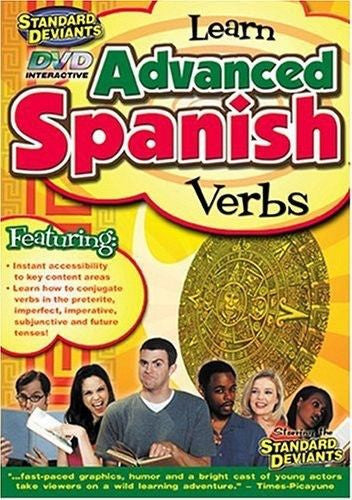 Standard Deviants: Learn Advanced Spanish - Verbs DVD Region 1 - Teacher In Spanish
