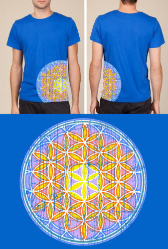 Flower of Life t-shirt, Mandala, Sacred Geometry, Spiritual, SCREEN PRINTED.