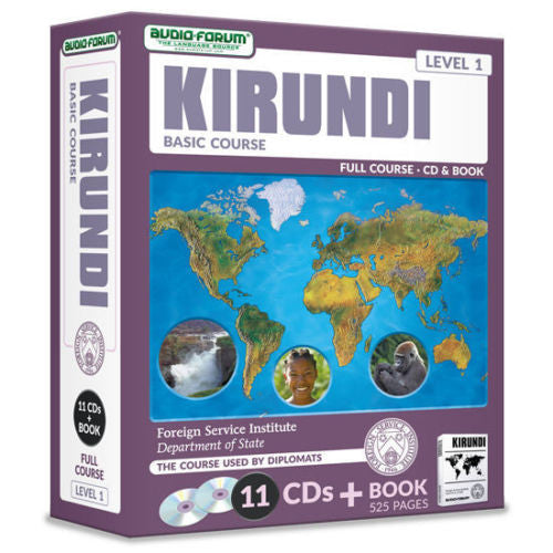 FSI: Basic Kirundi (11 CDs/Book) by Foreign Service Institute *NEW IN BOX*
