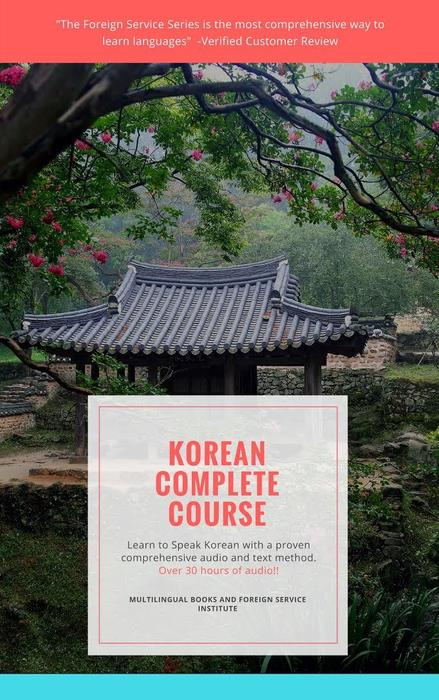 Learn Korean Foreign Service Book and CD Course