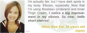 Underarm & Dark Spot Cream Testimonial by Alma Mae Kai for Mosbeau and KutiSkin