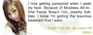 All-In-One Facial Soap Testimonial by Angel Masuda for Mosbeau and KutiSkin