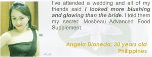 Advanced Food Supplement Testimonial by Angela Dioneda for Mosbeau and KutiSkin