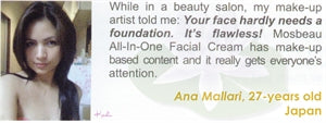 All-In-One Facial Cream Testimonial by Anna Mallari for Mosbeau and KutiSkin