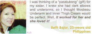 Underarm & Dark Spot Cream Testimonial by Beth Bajar for Mosbeau and KutiSkin