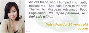 Advanced Food Supplement Testimonial by Daisy Palado for Mosbeau and KutiSkin