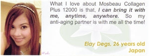 Collagen Plus 12000 Testimonial by Elay Degs for Mosbeau and KutiSkin