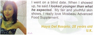 Advanced Food Supplement Testimonial by Haya Del Rosario for Mosbeau and KutiSkin