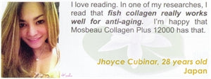 Collagen Plus 12000 Testimonial by Jhoyce Cubinar for Mosbeau and KutiSkin