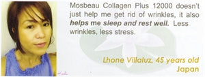 Collagen Plus 12000 Testimonial by Lhone Villaluz for Mosbeau and KutiSkin