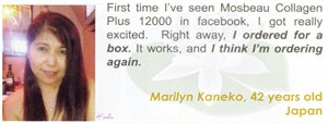 Collagen Plus 12000 Testimonial by Marilyn Kaneko for Mosbeau and KutiSkin