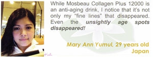 Collagen Plus 12000 Testimonial by Mary Ann Yumul for Mosbeau and KutiSkin