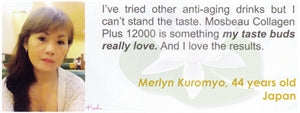 Collagen Plus 12000 Testimonial by Merlyn Kuromy for Mosbeau and KutiSkin