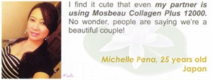 Collagen Plus 12000 Testimonial by Michelle Pena for Mosbeau and KutiSkin