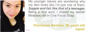 All-In-One Facial Soap Testimonial by Preciousse Ramirez for Mosbeau and KutiSkin