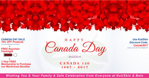 2017 Canada Day Campaign by KutiSkin - Your Trusted Skin Whitening Store