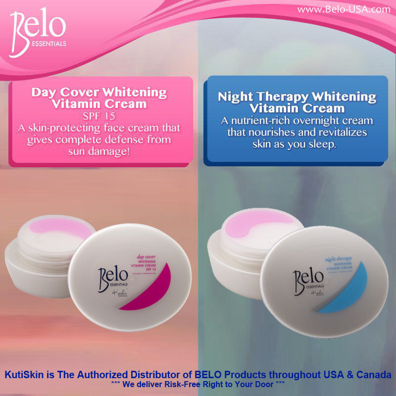 KutiSkin's Belo Essentials Day Cover Cream and Night Cream Poster - HALAL