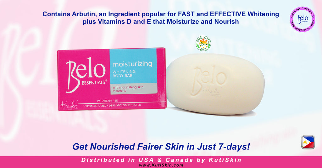 KutiSkin Belo Essentials Moisturizing Whitening Body Bar - HALAL