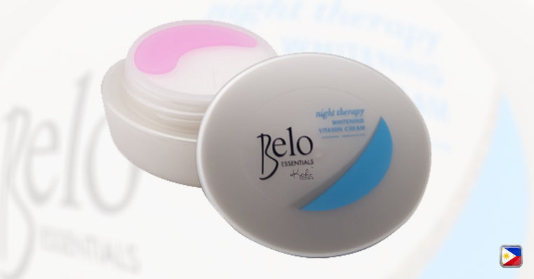 KutiSkin's Belo Essentials Night Therapy Whitening Vitamin Cream Jar HALAL