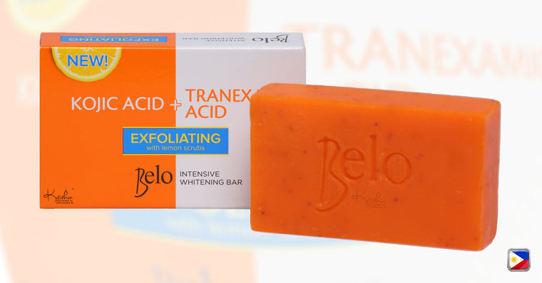 KutiSkin Belo Intensive Whitening Bar (Kojic+Tranexamic) with Lemon Scrubs - HALAL