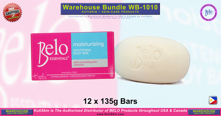 KutiSkin - WB1010 - Belo Essentials Moisturizing Body Soap Bundle - HALAL