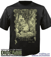"Greek God Pan with William Blake Quote ""The lust of the goat is the bounty of God."" 1 color version"