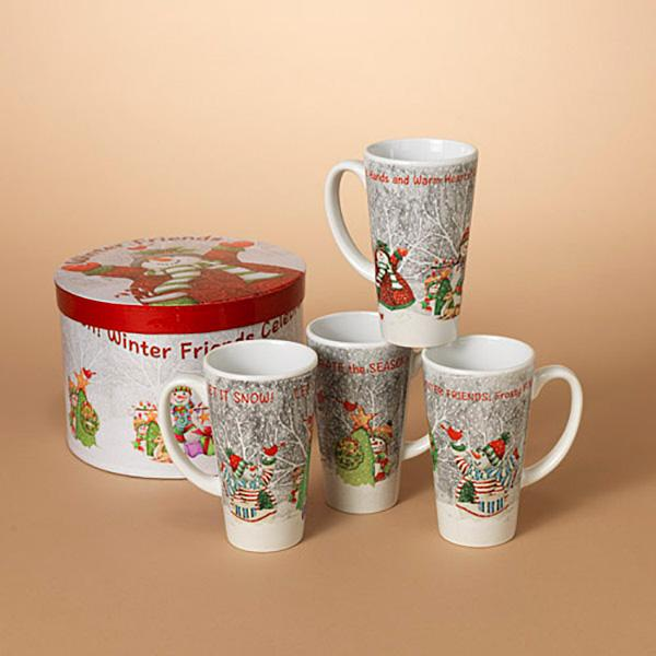Set of (4) Holiday Latte Mugs with Box - Bloom'n Things (3206978306129)