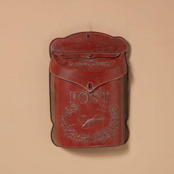 Red Antique Looking Mail Box - Bloom'n Things