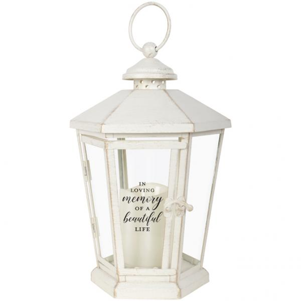 Antique White Lantern - Beautiful Life - Bloom'n Things, LLC