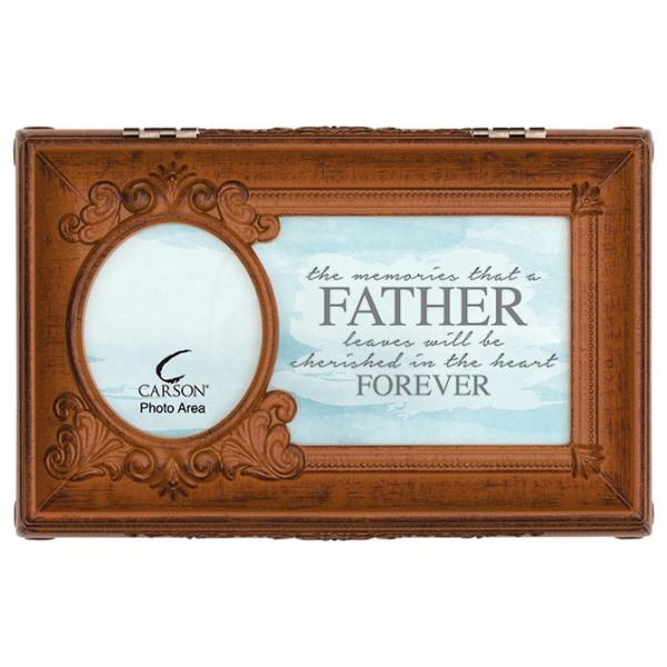 """Cherished in the Heart Forever"" Music Box with Photo Frame - Bloom'n Things"