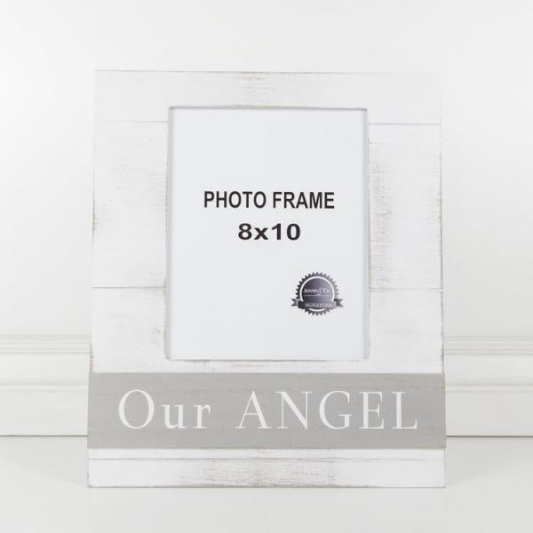 """Our Angel"" Gray/White Picture Frame - Bloom'n Things, LLC"