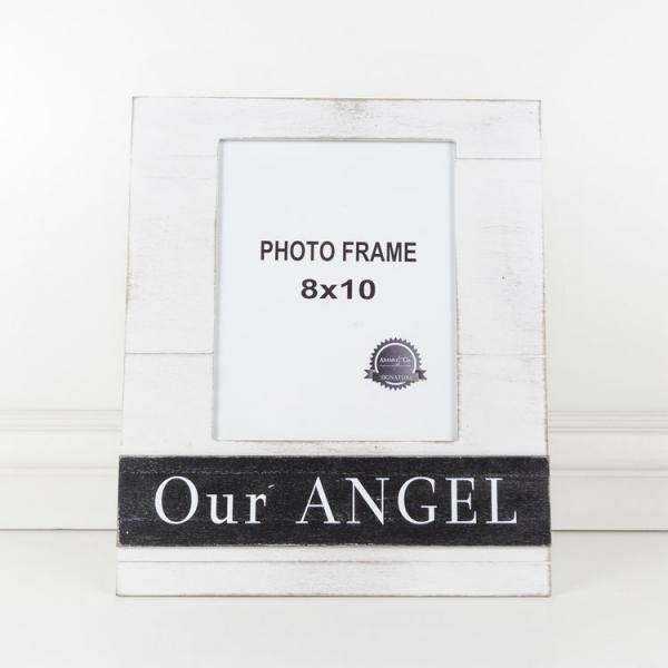 """Our Angel"" Picture Frame - White/Black - Bloom'n Things"