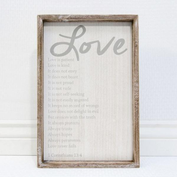 LOVE, Love is Patient.....Wood Sign - Bloom'n Things