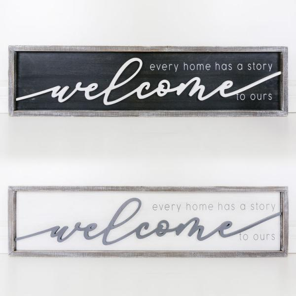 """Every home has a story"" Wood Sign - Reversible - Bloom'n Things (4550260719697)"