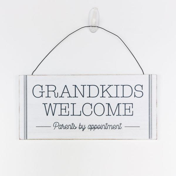 """Grandkids Welcome""..... Hanging Sign - Bloom'n Things (4550306267217)"