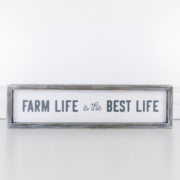 """Farm Life is the Best Life"" Wood Sign - Bloom'n Things, LLC"
