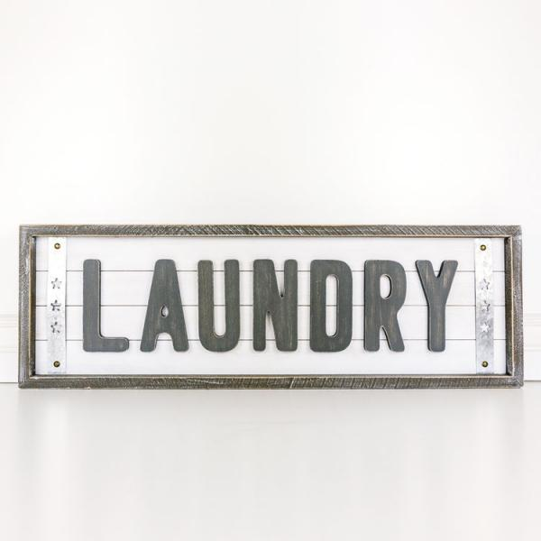 Shiplap Wood Framed Laundry Sign - Bloom'n Things, LLC