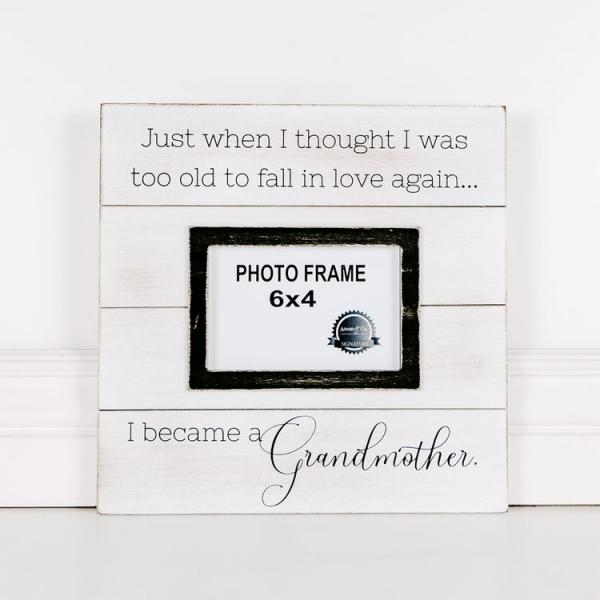 """I became a Grandmother"".... Wood Picture Frame - Bloom'n Things"