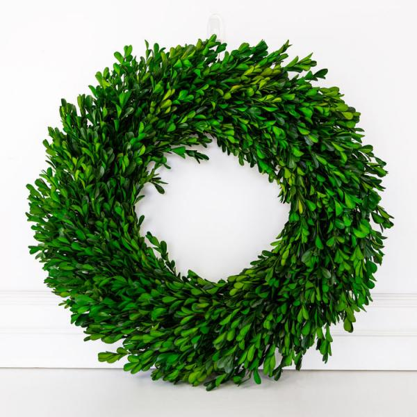 "21"" Boxwood Wreath, Green - Bloom'n Things"