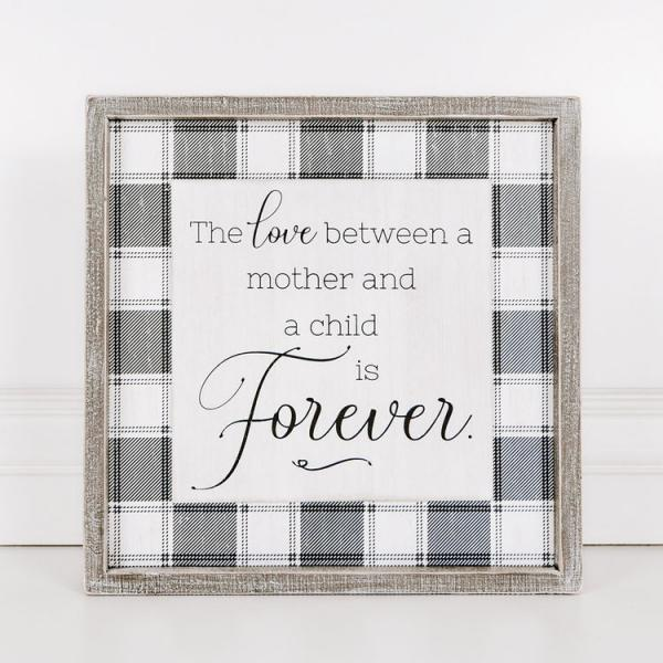 """The love between a mother and a child....."" Wood Framed Sign - Bloom'n Things"