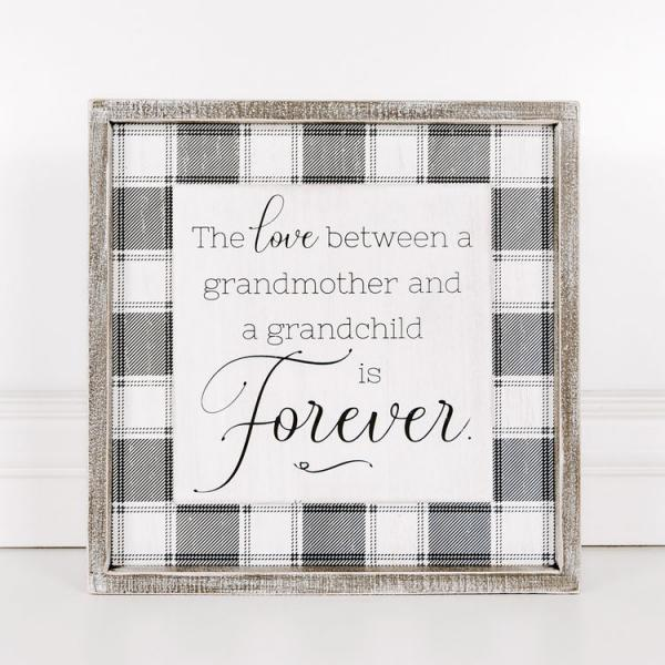 """The love between a grandmother & a grandchild......."" Wood Framed Sign - Bloom'n Things, LLC"