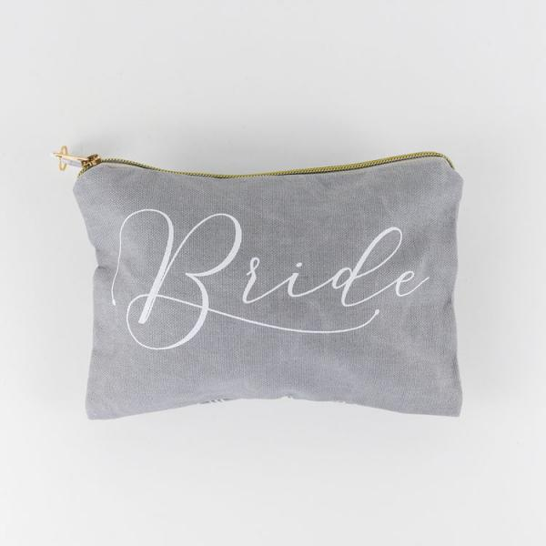 """Bride"" Canvas Bag with zipper - Bloom'n Things (4558796193873)"