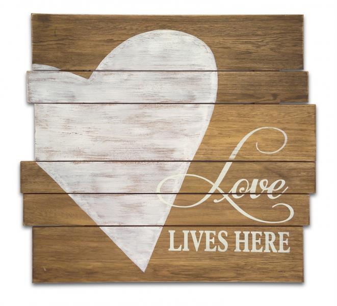 """Love Lives Here""..... Rustic Heart Plaque - Bloom'n Things (4559420391505)"